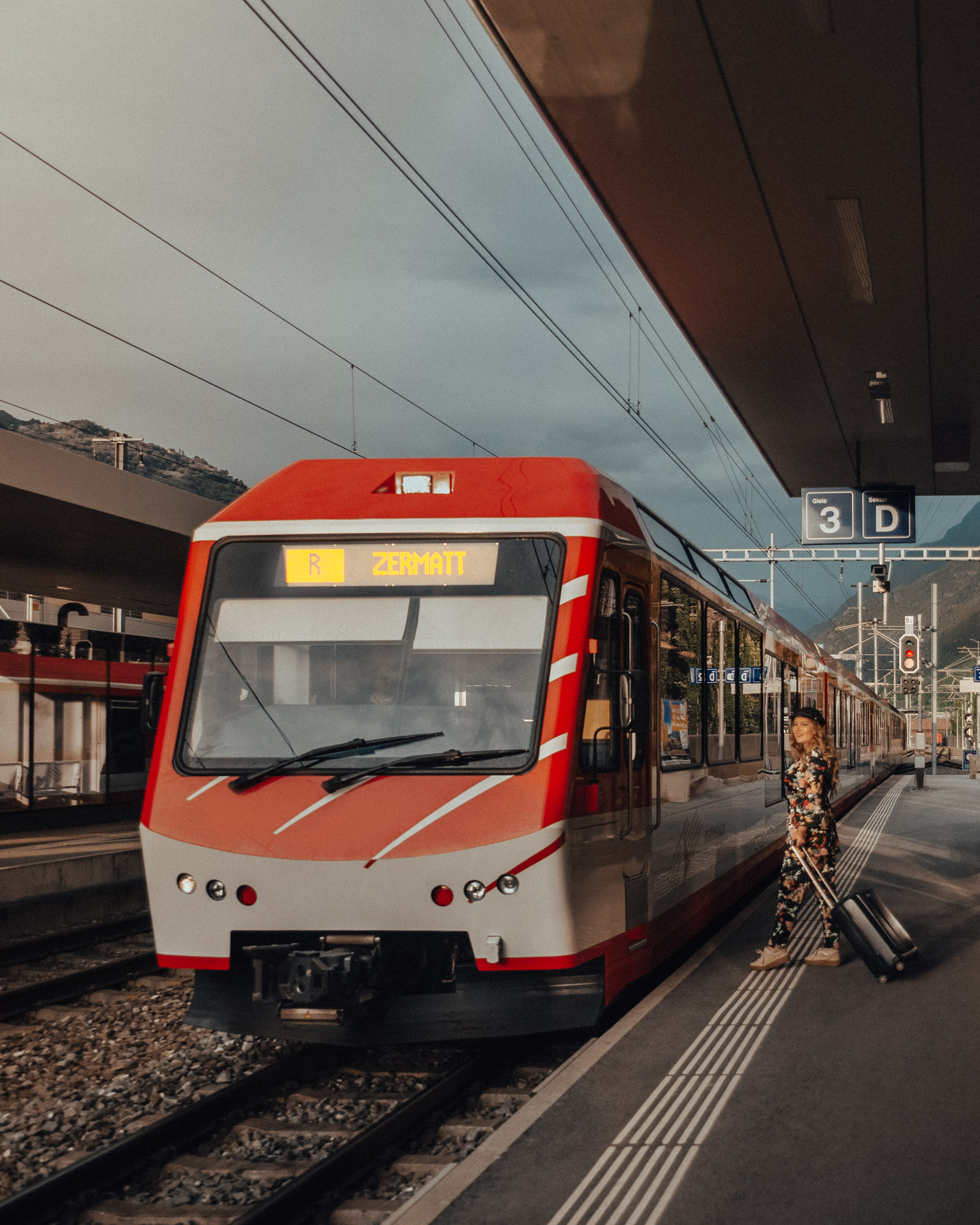 Tåg till Zermatt, Schweiz