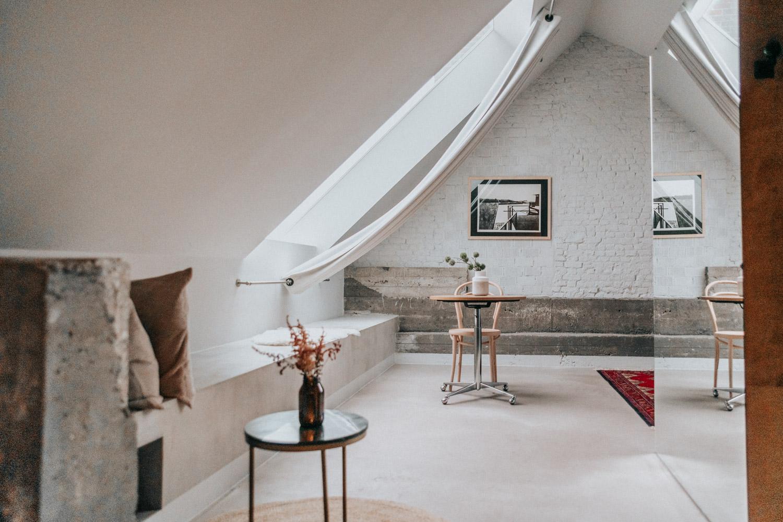 Terrassvit på Hotel Pilar i Antwerpen, Belgien