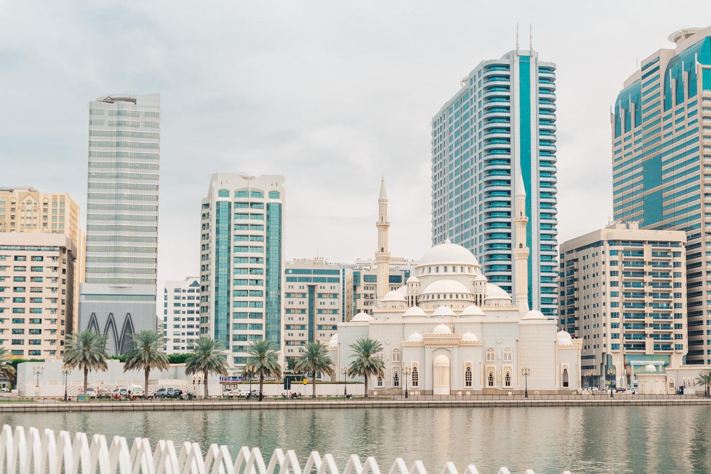 Moskén Al Noor Mosque i Sharjah, UAE