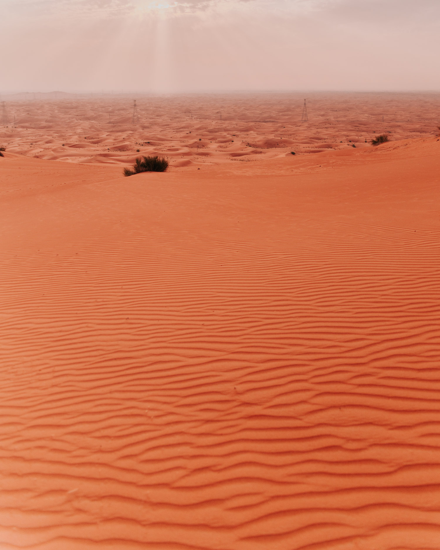 Vackra sanddynor så långt ögat kan nå i Mleiha
