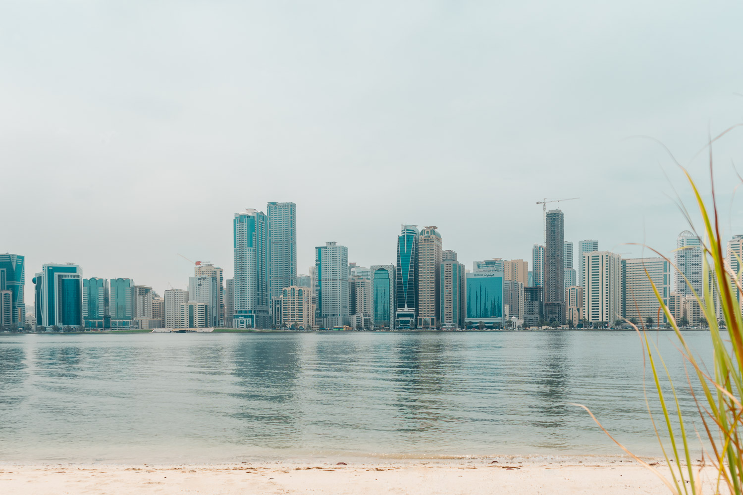 Sharjah's coastline seen from Al Noor Island
