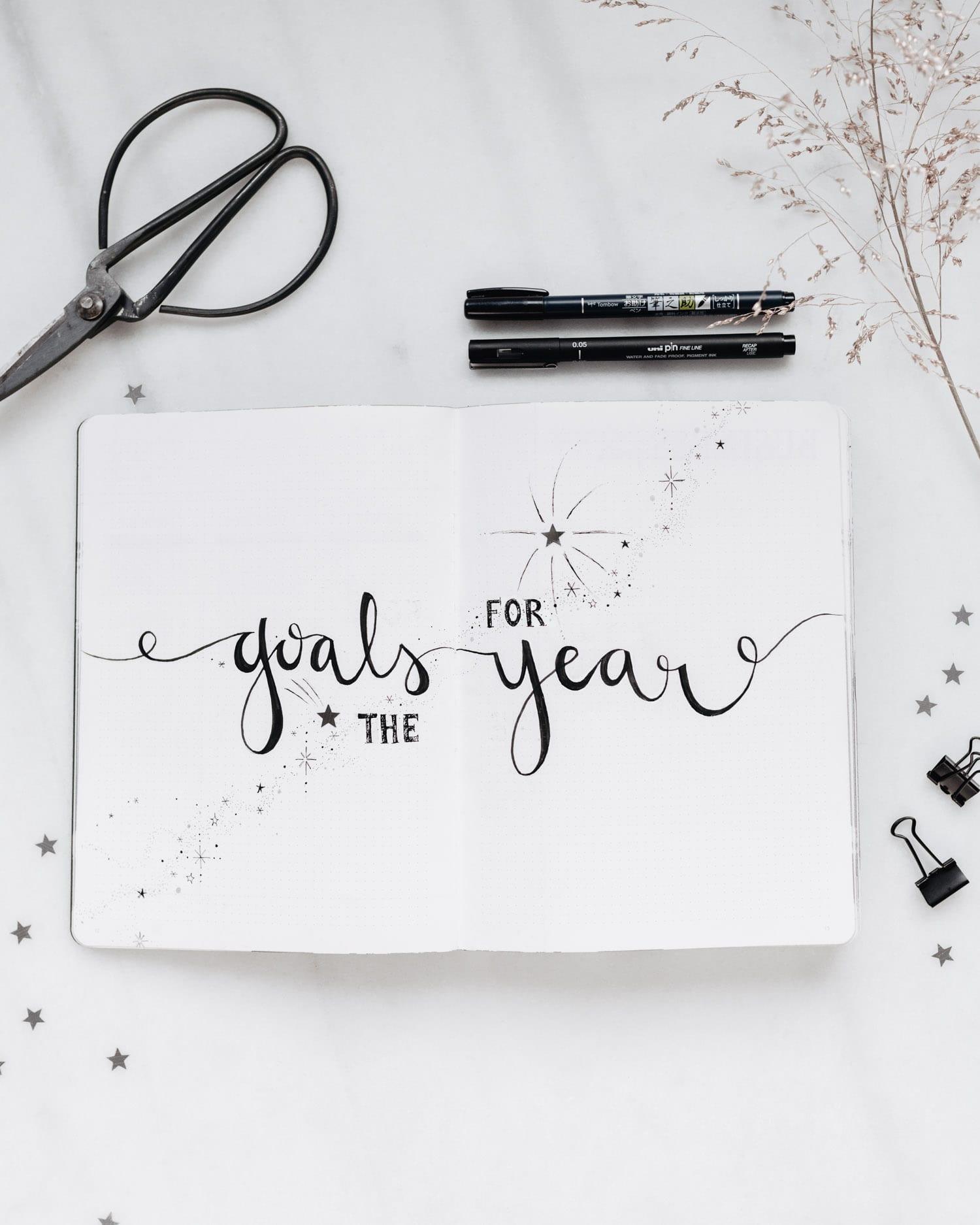 Bullet Journal - Årliga mål (Goals for the Year)