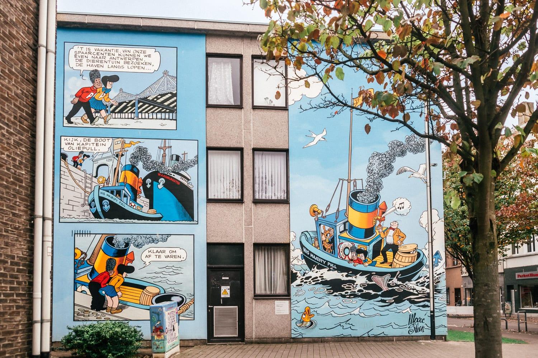 Nero - gatukonst i Kloosterstraat, Antwerpen, Belgien