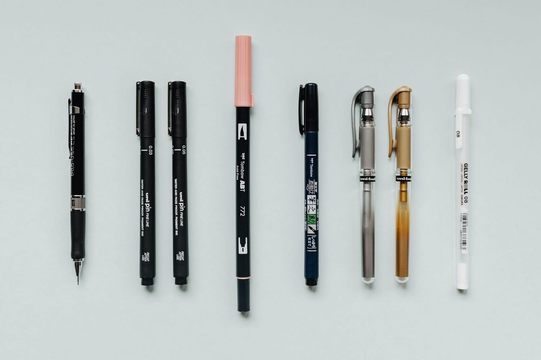 8 av de bästa pennorna för Bullet journaling