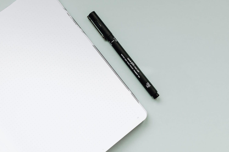 Vad du behöver för att starta en Bullet journal: Anteckningsbok & Penna