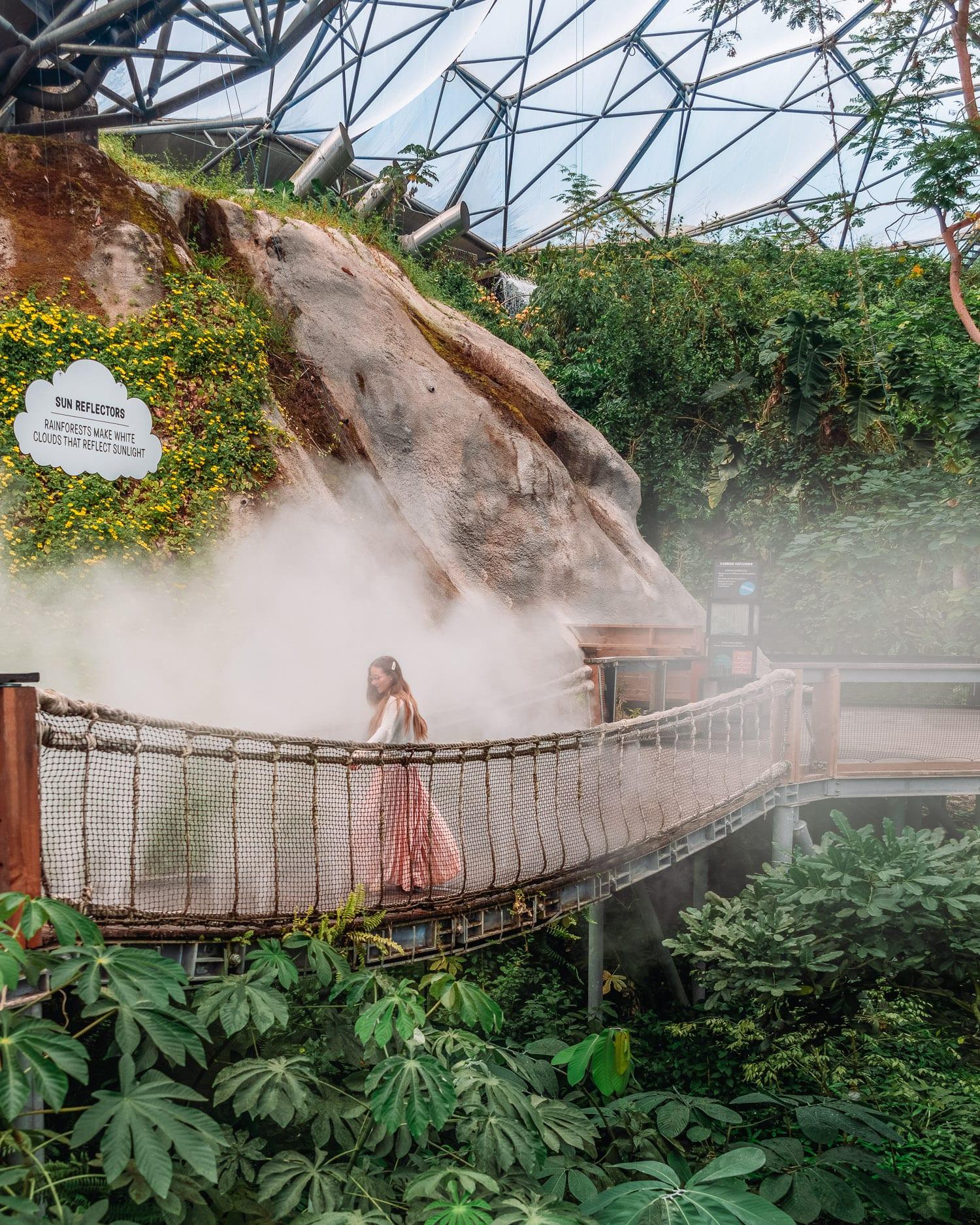 Regnskogsbiomen i Eden Project   Saker att göra i Cornwall, Storbritannien