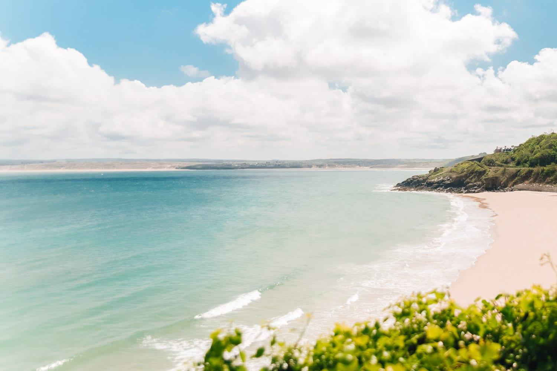 Strand i St Ives, Cornwall, Storbritannien