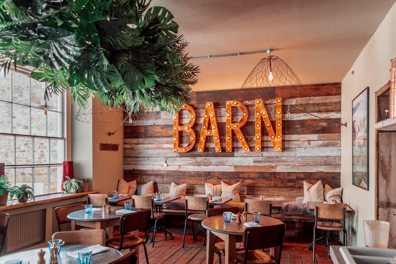 The Cornish Barn - Instagramvänlig restaurang i Penzance, Cornwall, Storbritannien