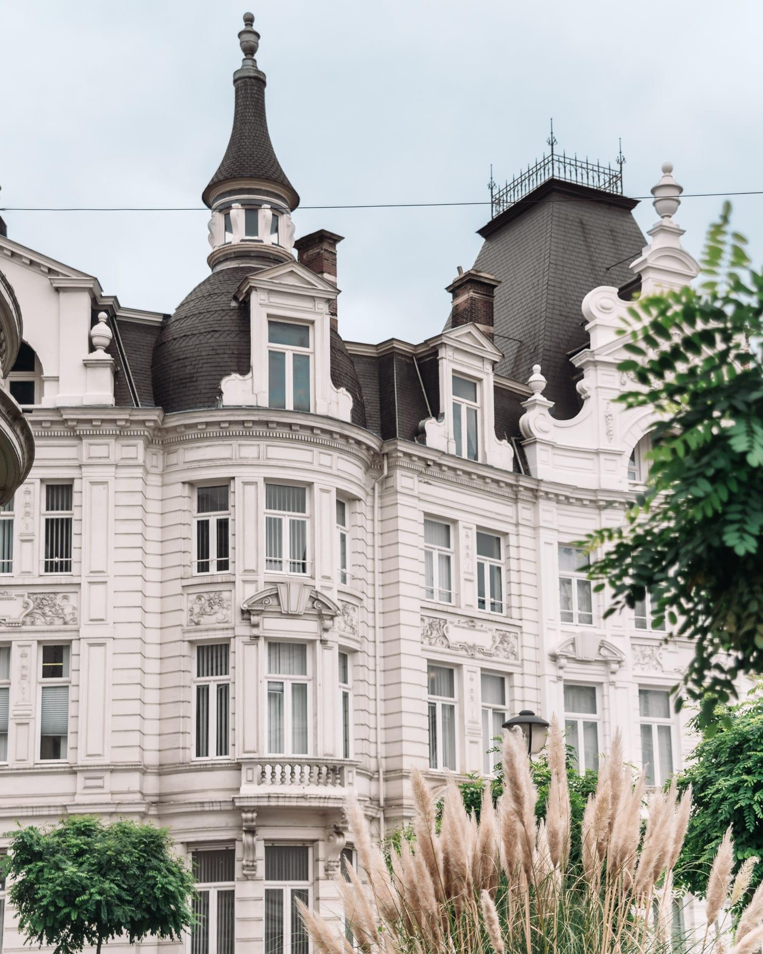 Vacker byggnad i Zurenborg, Antwerpen