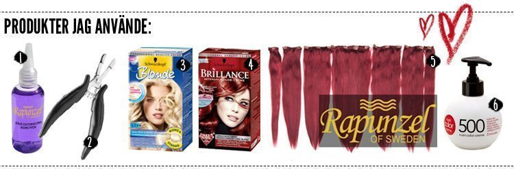 Brunt till rött hår - produkter
