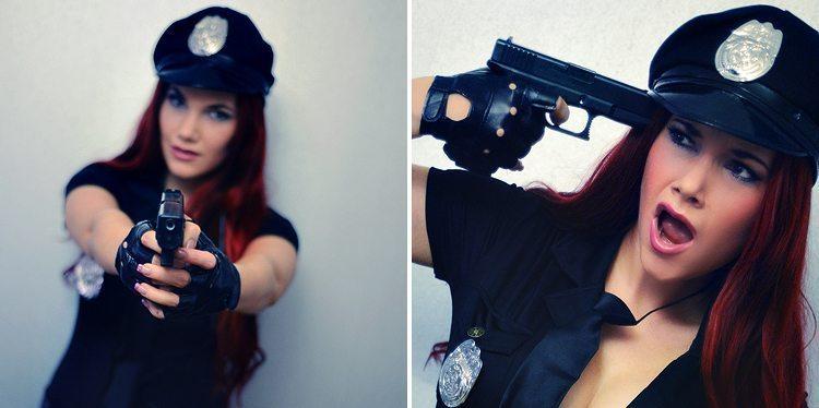 maskerraddrakt-polis