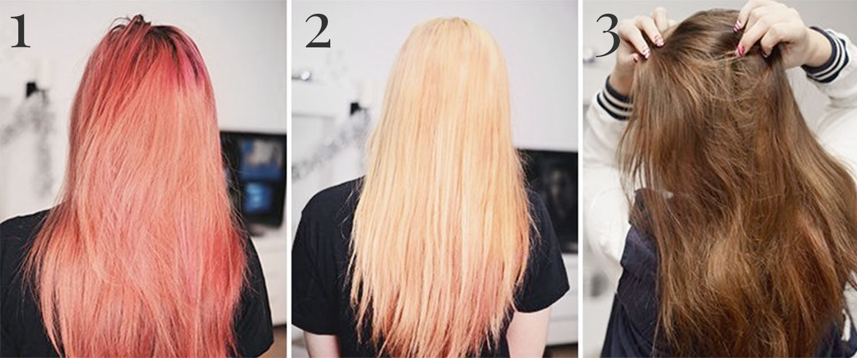 ta bort hårfärg med bakpulver