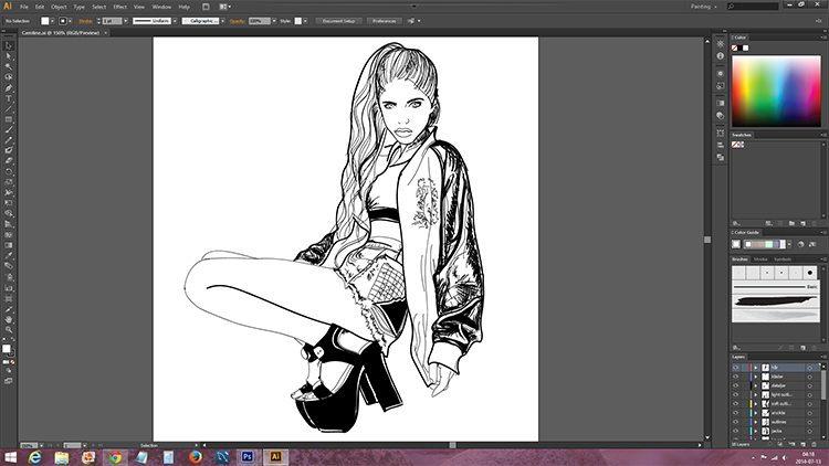 Caroline_Roxy-teckning