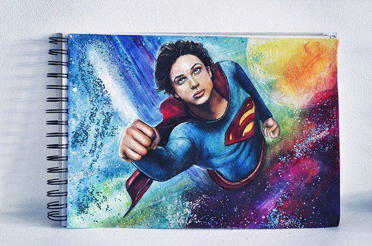 Teckning-Tom-Welling-Superman