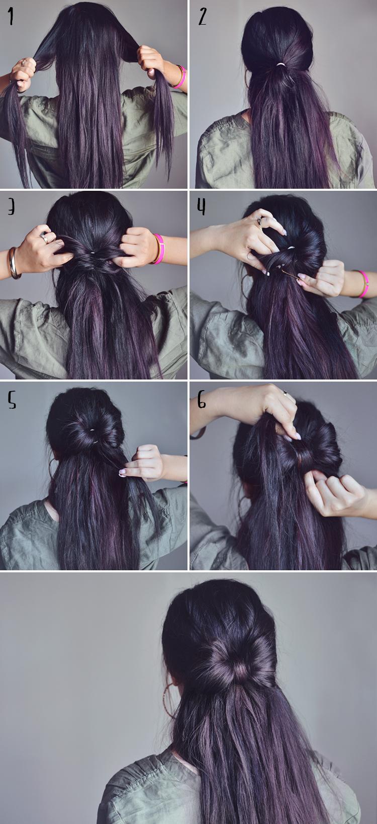 Så gör du en rosett i håret