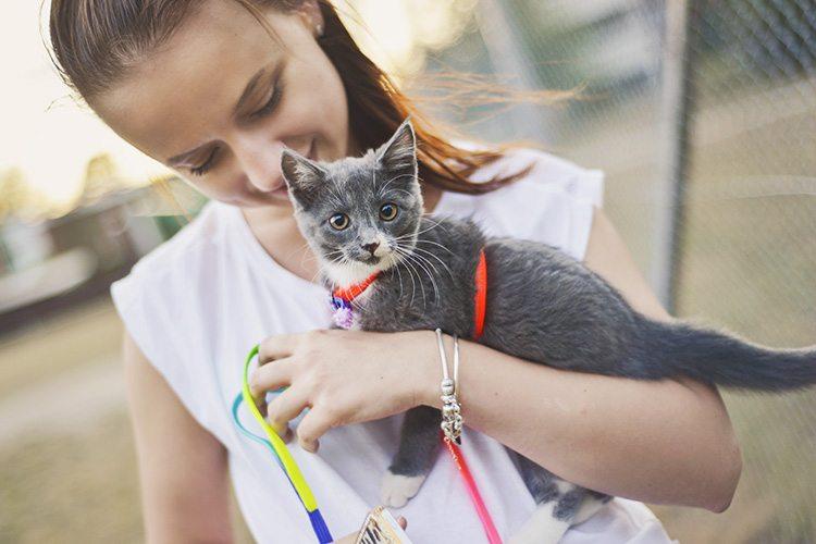 Kasia och kattungen Tally