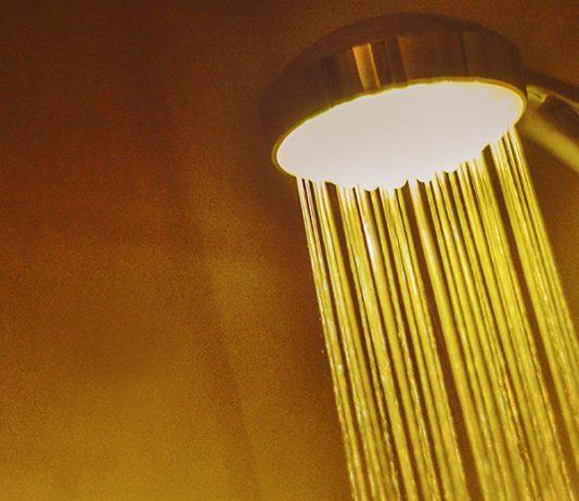 Duschmunstycke med LED-ljus