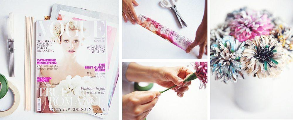 DIY - Blommor av magasin