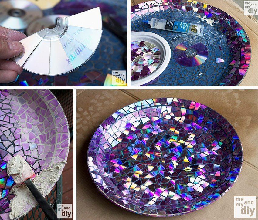Mosaik av cd-skivor