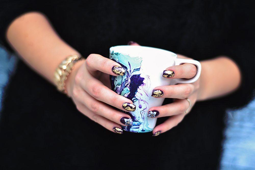 DIY - Marmorerad mugg med nagellack