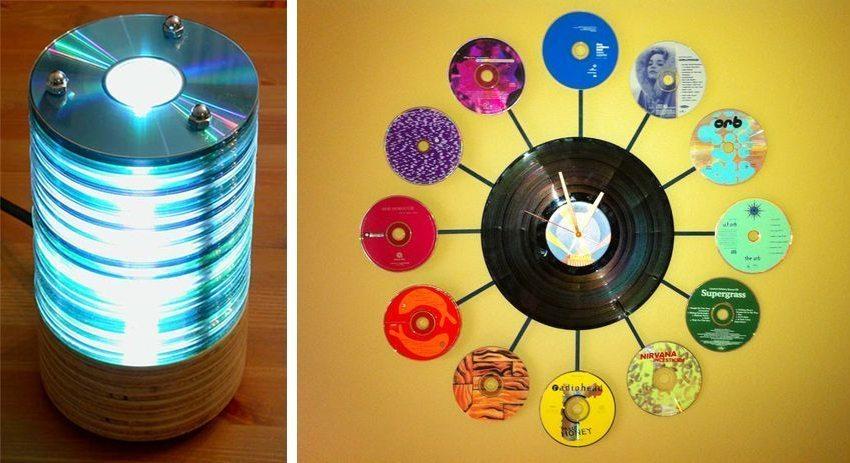 Klocka av CD-skivor