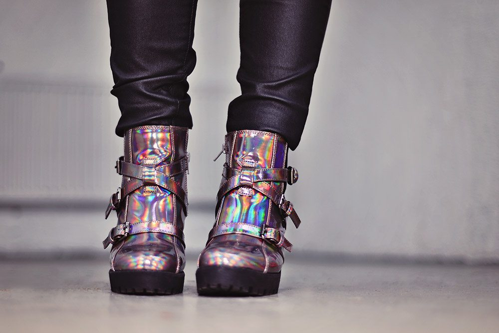 Holograpic boots