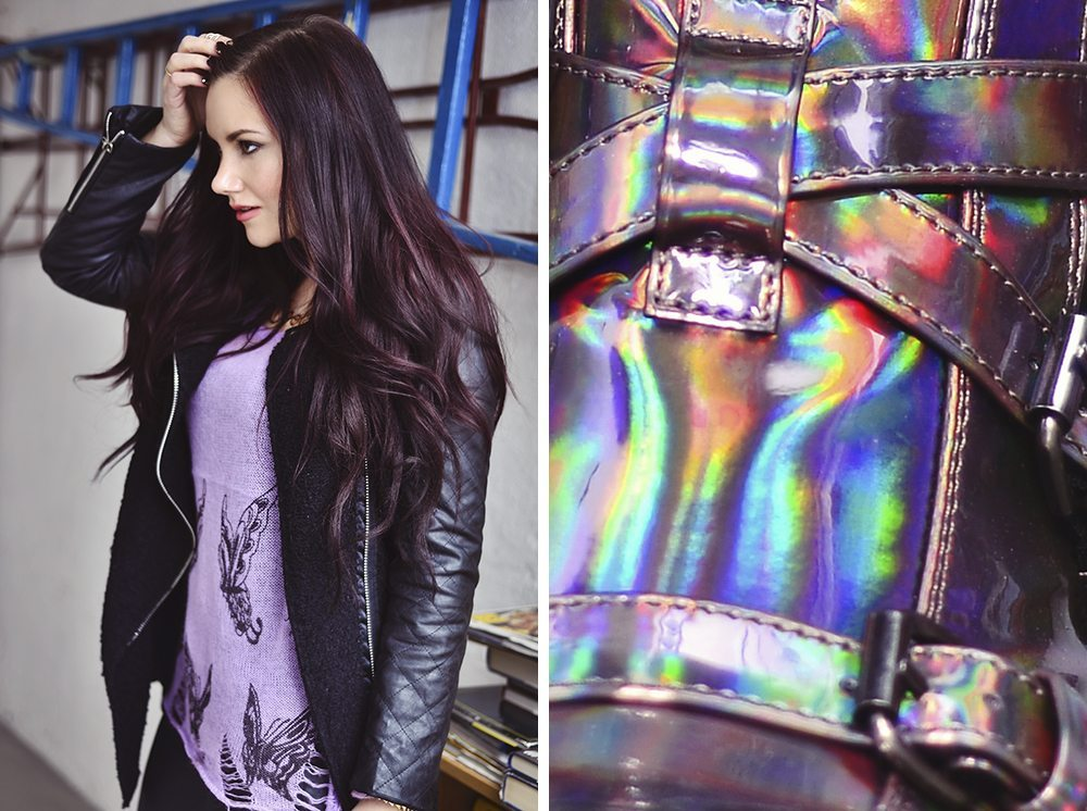Outift med holographic boots