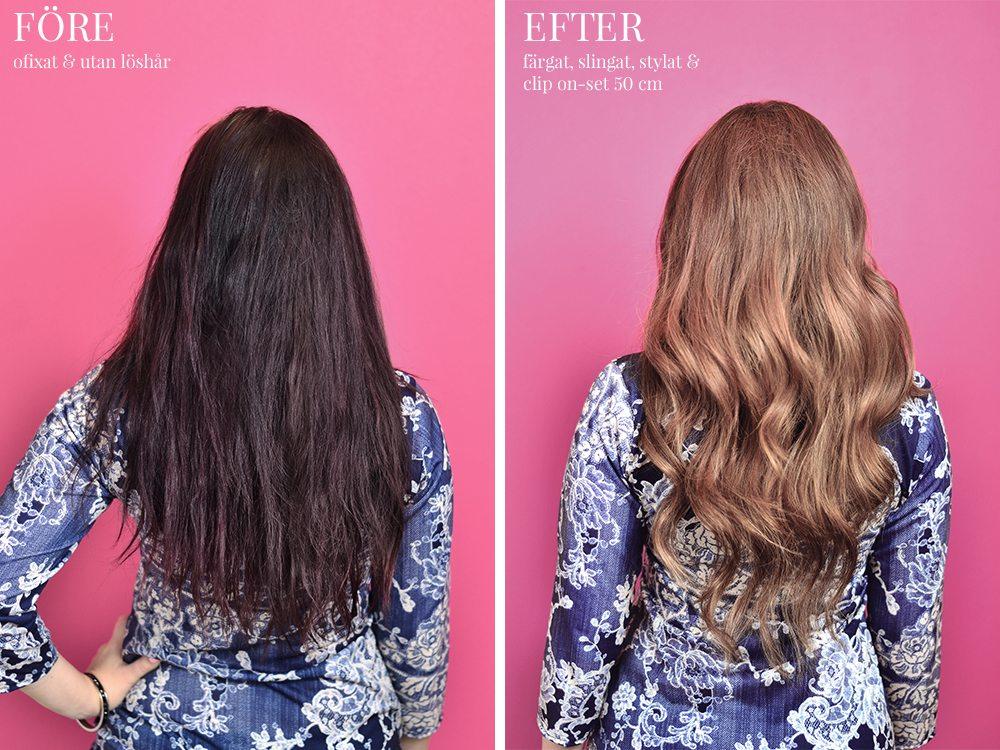 Poze Hair Hårförlängning - Före och Efter