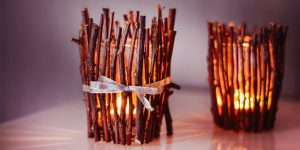 DIY Wood Sticks Candle Holders