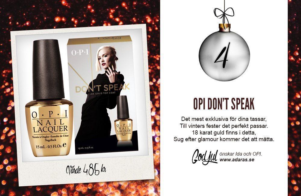 OPI Don't Speak - 18K Gold Top Coat
