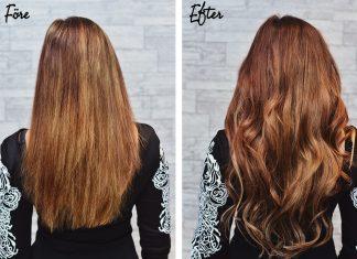 Före & efter hårförlängning