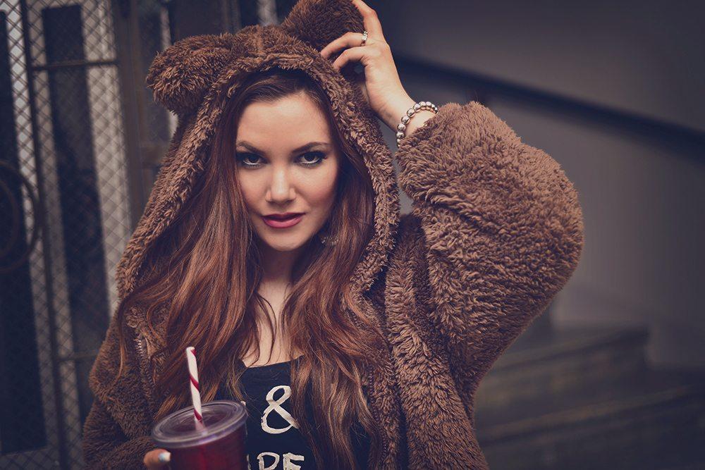 Cute bear hoodie