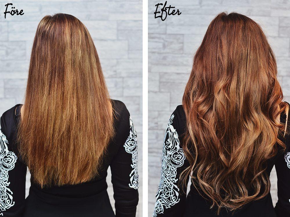 ta bort hårförlängning med aceton