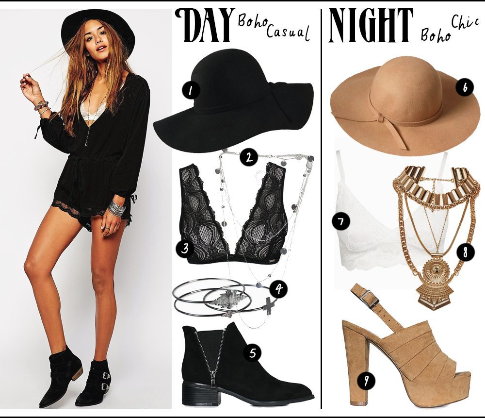 How to match black playsuits from day to night