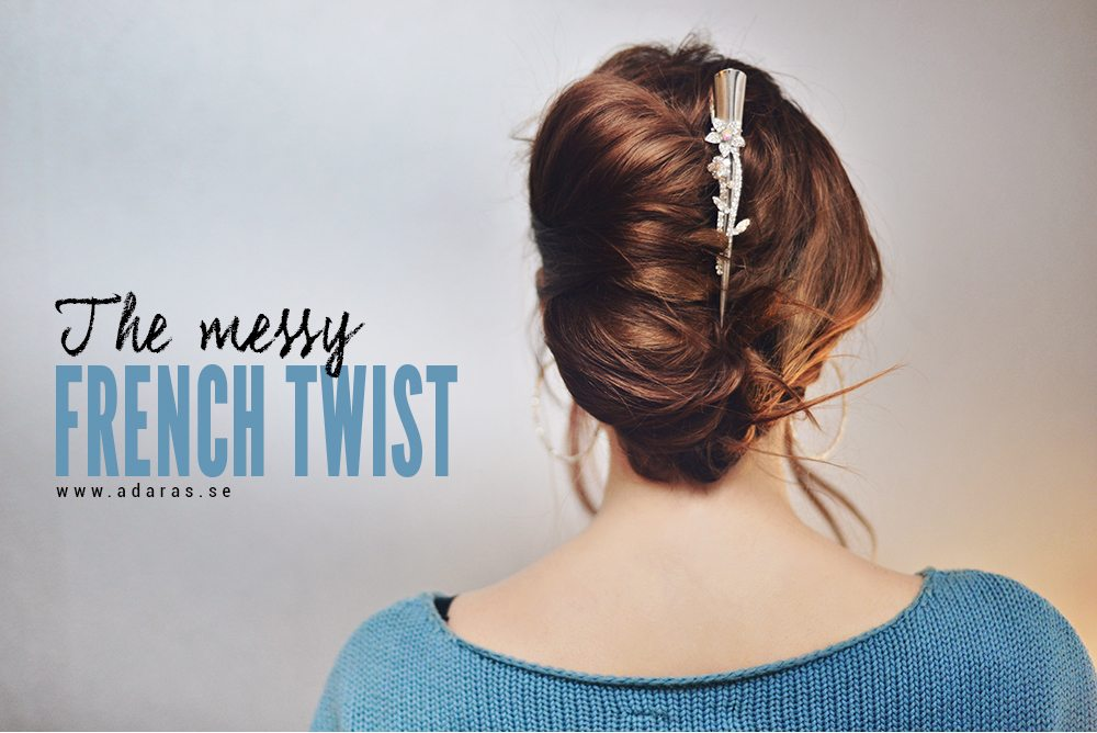 Hair tutorial: How to do a messy french twist