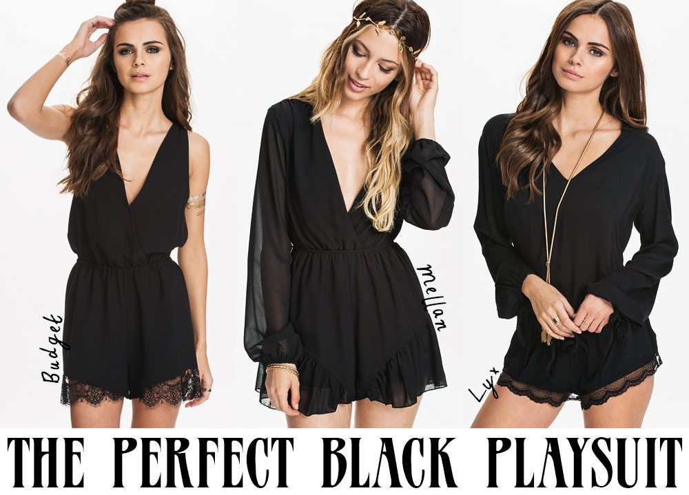 Svarta playsuits