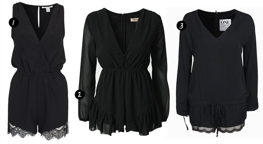 Black playsuits
