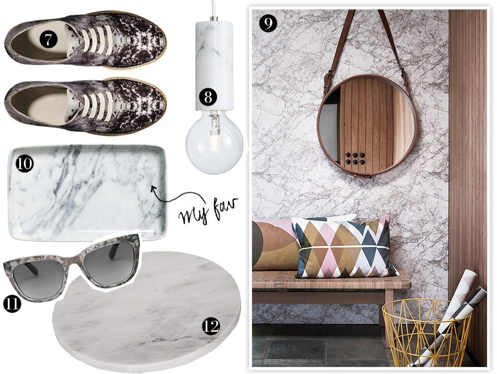 Mera marmor - 12 mönstrade favoriter