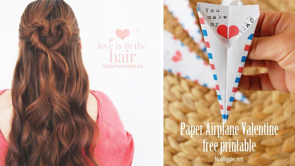 DIY: Alla hjärtans dag-frisyr och kort