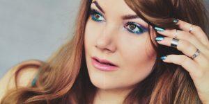 Pure Turquoise & Purple Makeup