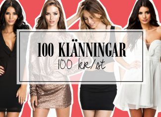 100 klänningar - 100 kr/st