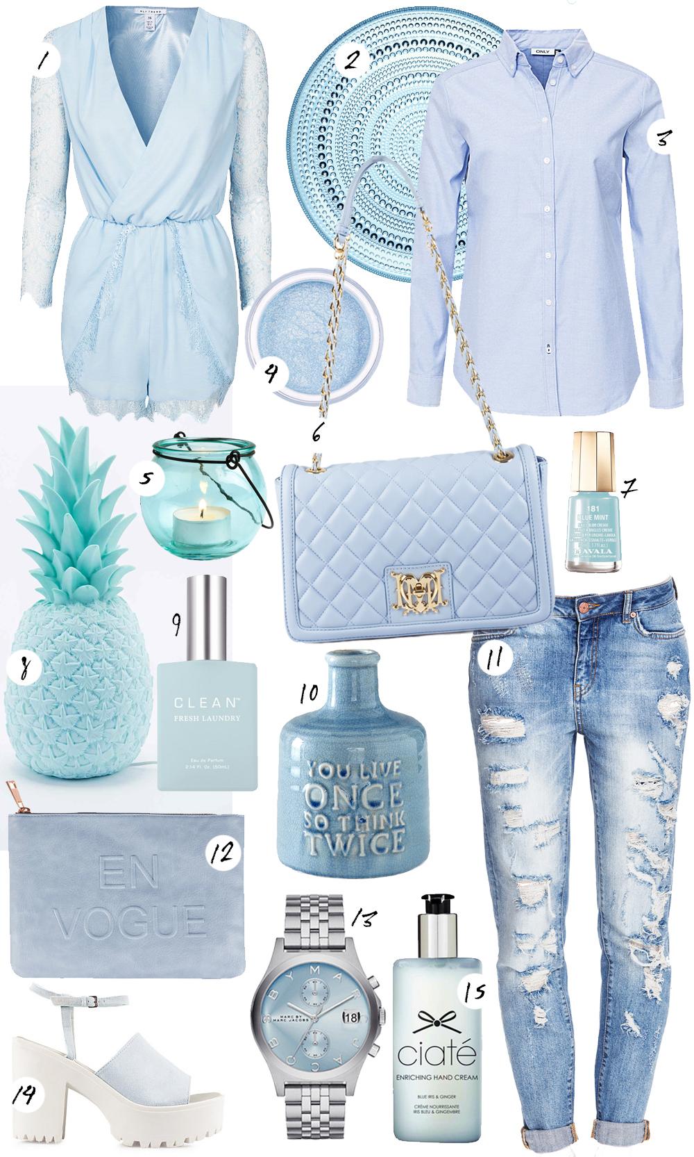Mint blue wanties