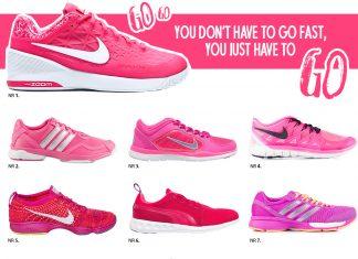 Rosa träningsskor