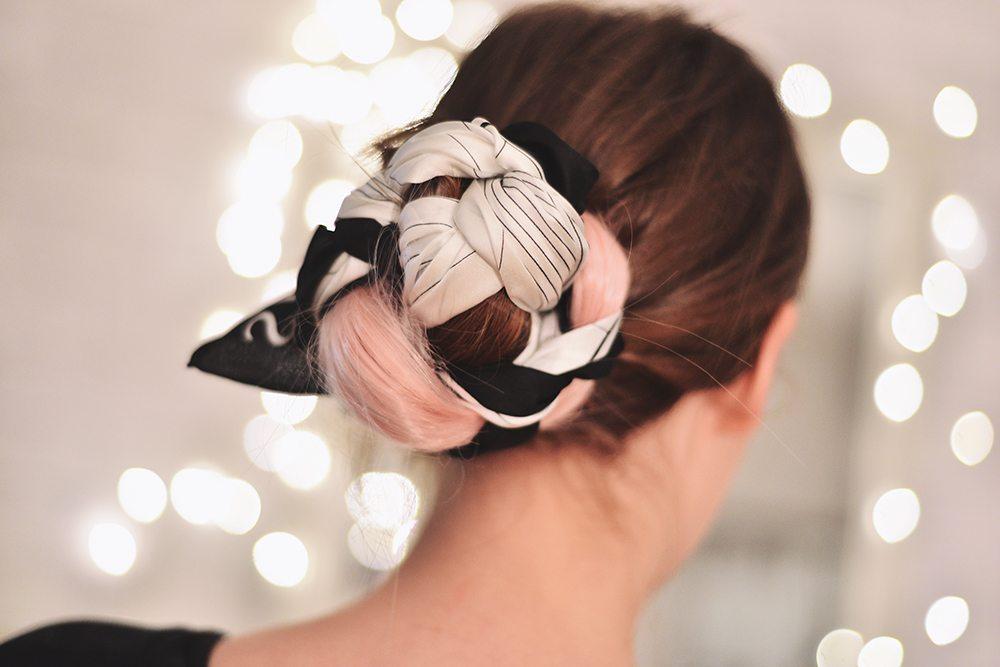 DIY: Hårknut med scarf // Scarf Bun