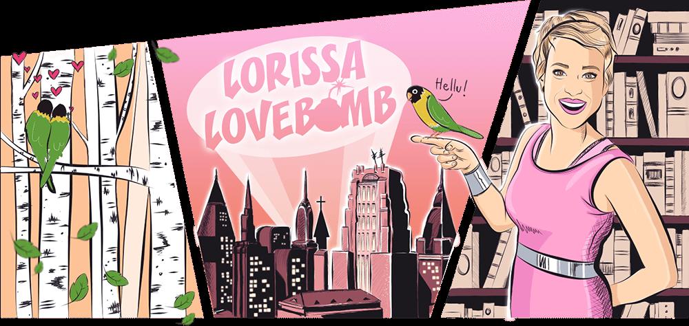 Lorissa Lovebomb - illustrerad header