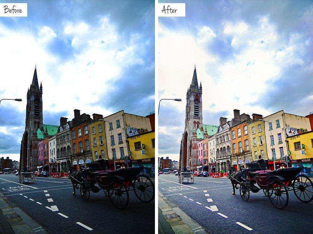 Bloggbilder - Före och efter redigering