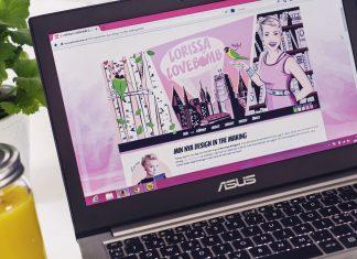 Lorissa Lovebomb - Comic-blogg med digitala illustrationer