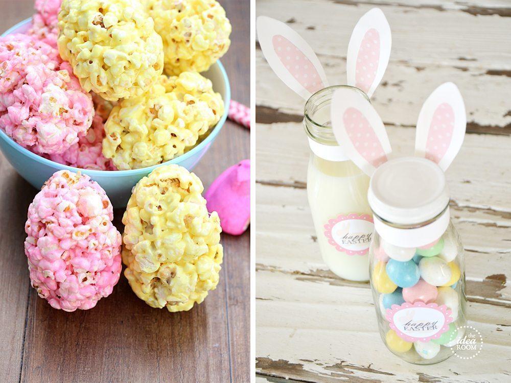 marshmallow popcorn eggs