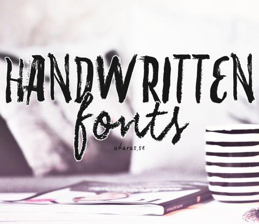 Handskrivna typsnitt