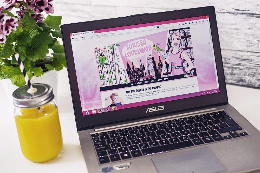 Lorissa Lovebomb - Bloggdesign med illustrationer